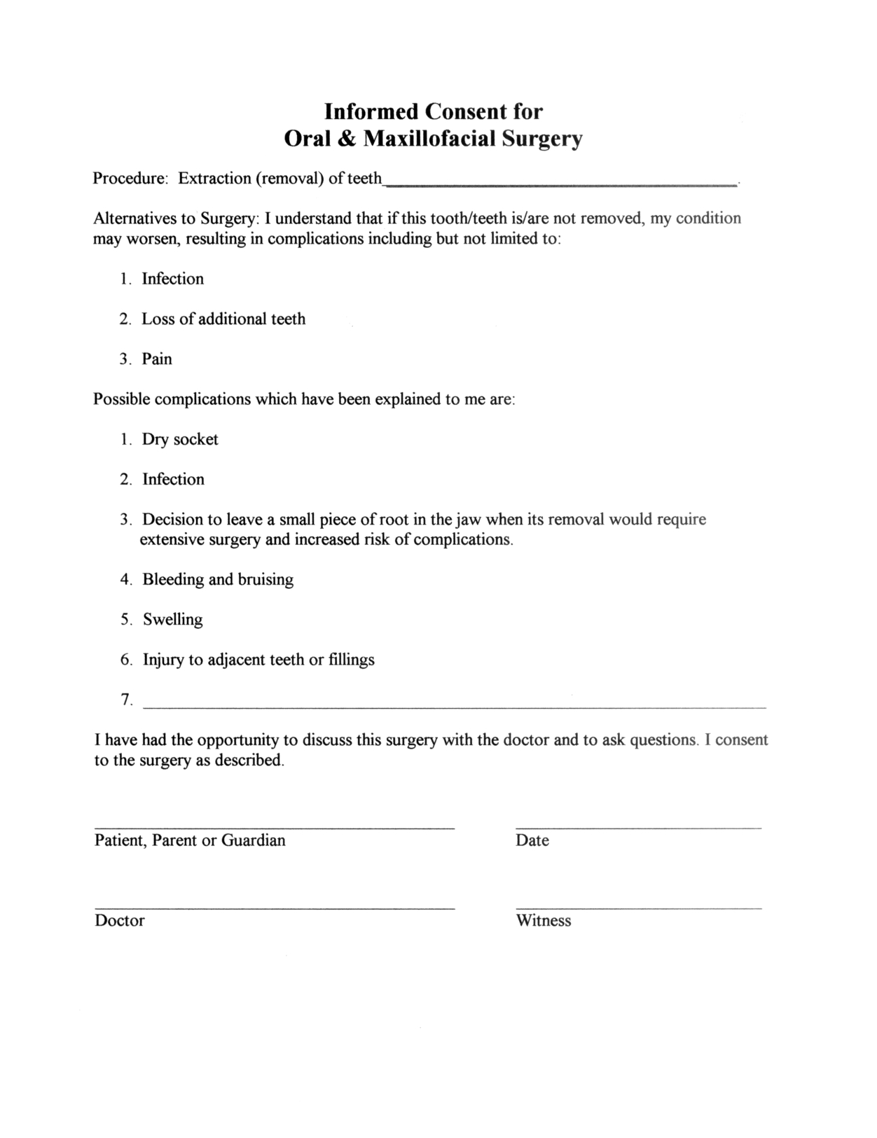 Medical Consent Letter Template - Surgery Informed Consent form Template Consent form