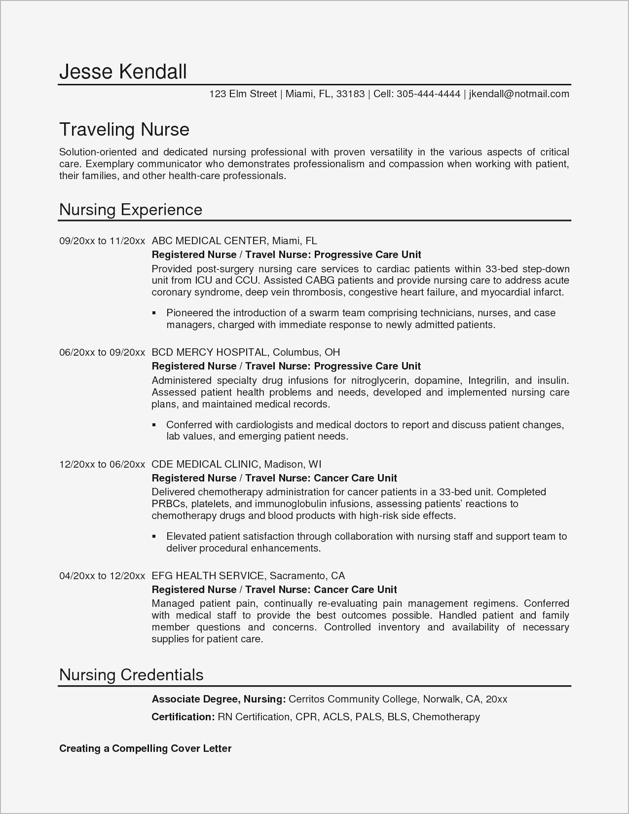 Nursing Cover Letter Template New Grad - Surprising New Grad Rn Cover Letter Templates