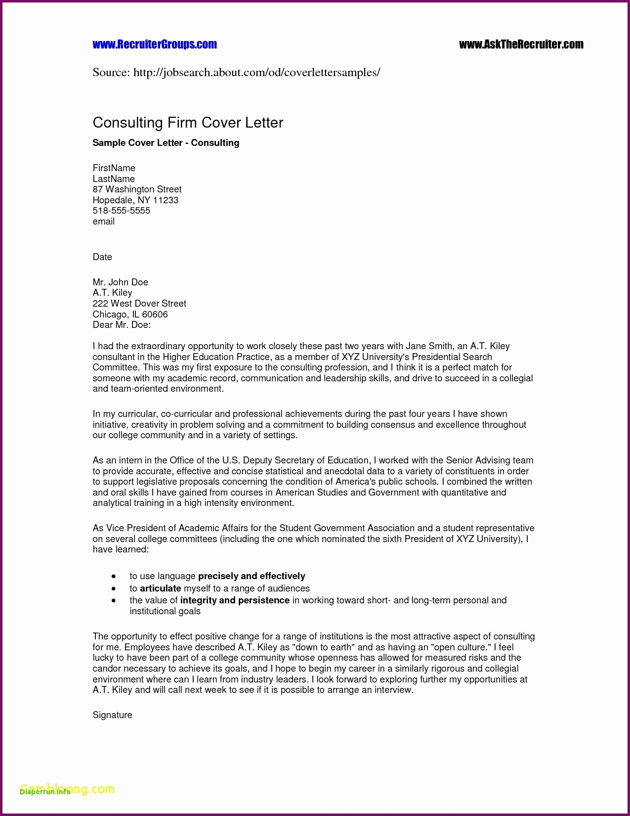 Portfolio Cover Letter Template - Teaching Portfolio Template Free