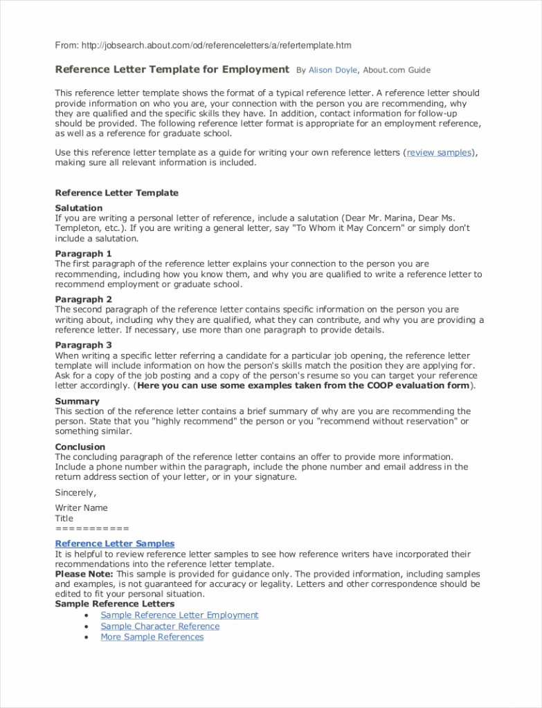 Letter Of Recommendation Template for Employee - Template for A Reference An Employee & Plete Guide Example