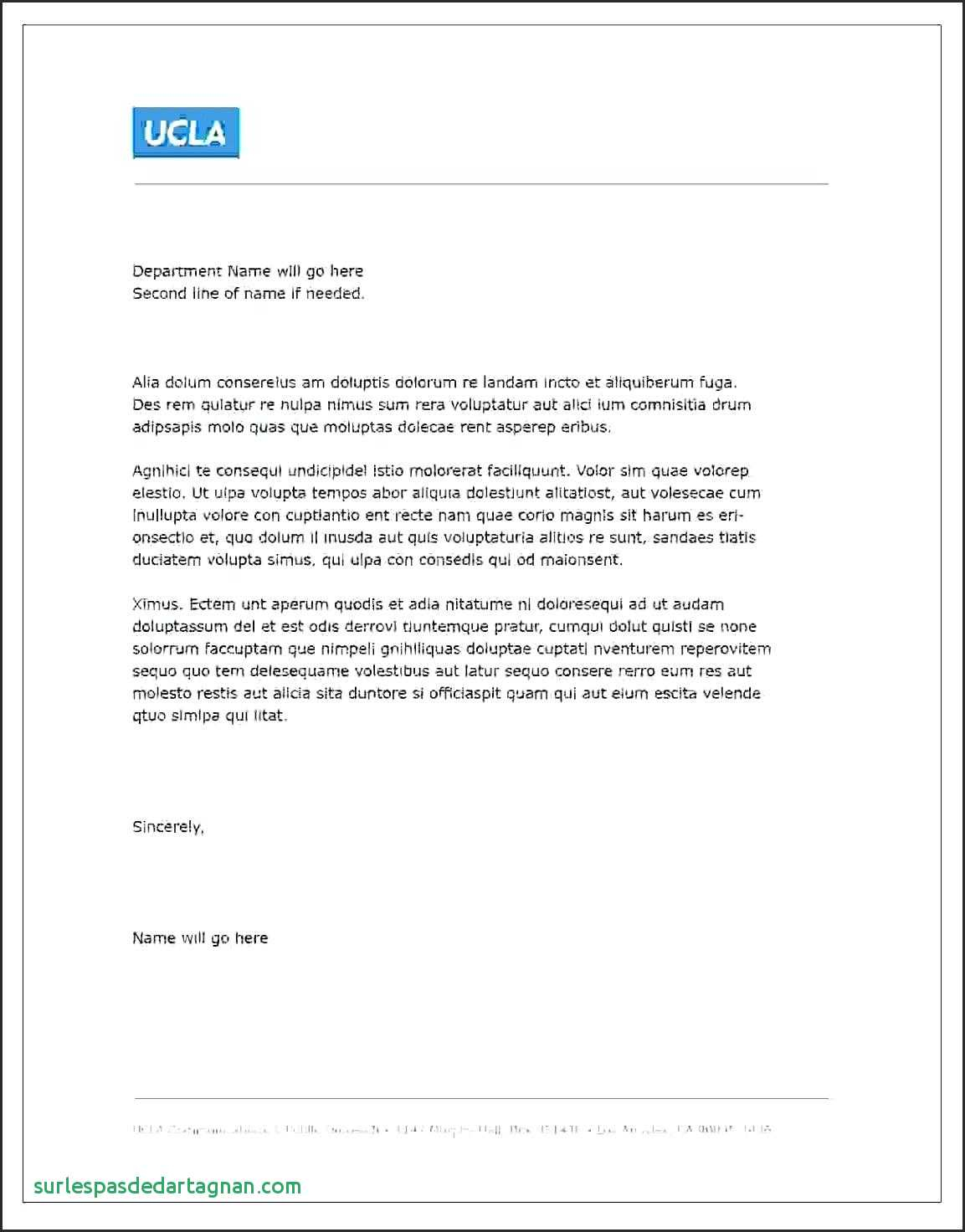 Business Letter format Template - Template Recipe Template for Microsoft Word Business Letter Free