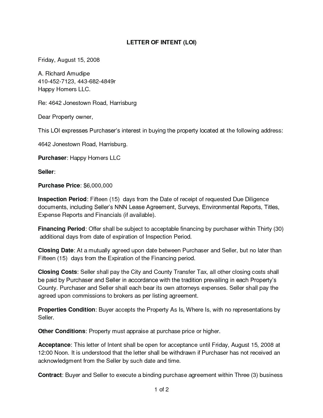 Letter of intent to lease template collection letter templates letter of intent to lease template tenant fero lease mercial property youtube letter spiritdancerdesigns Image collections