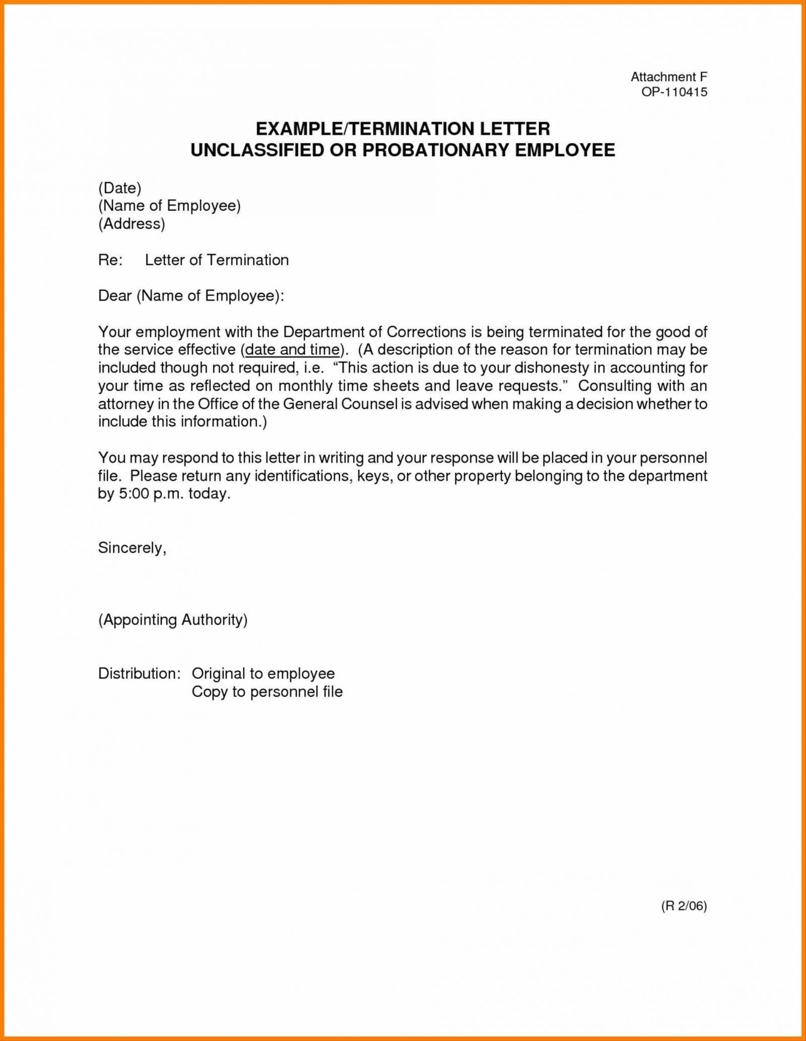 Separation Letter to Employee Template - Termination Letter format for Leave and License Agreement Fresh