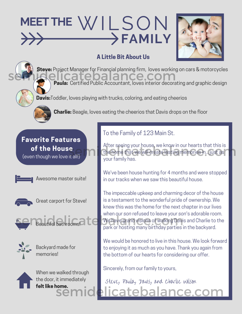 Home Purchase Offer Letter Template - the Epic Buyer Fer Letter that Won Us the House
