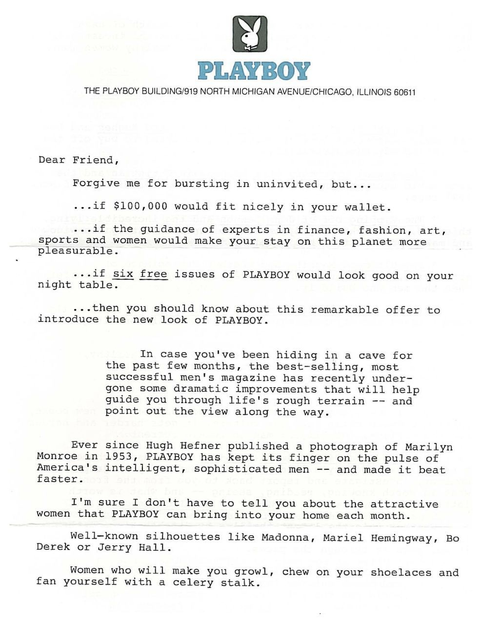 direct mail sales letter template Collection-This was my first of three winning direct mail sales letters for Playboy It won a Gold Folio Award 4-h