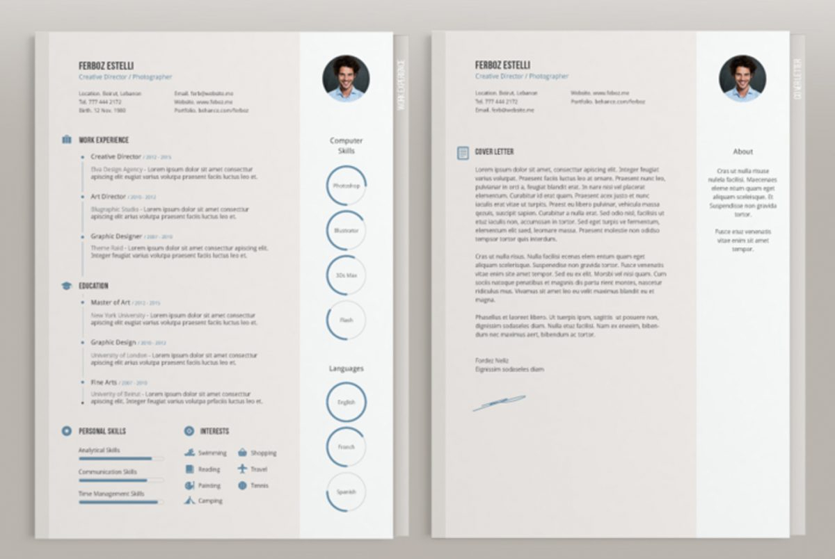 Indesign Cover Letter Template - top 26 Free Indesign Resume Templates Updated 2018 Indesign Template