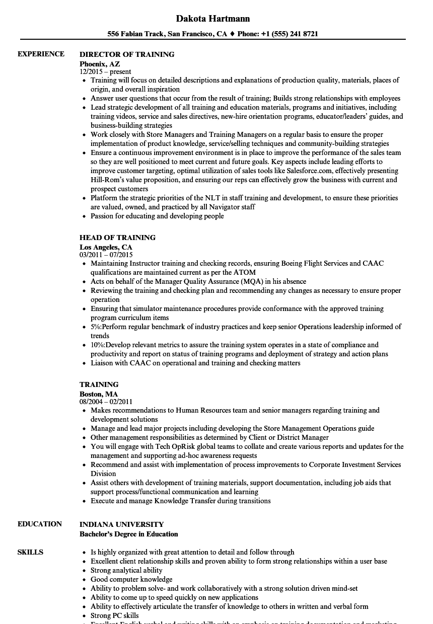 aml comfort letter template example-Download Training Resume Sample as Image file 10-a