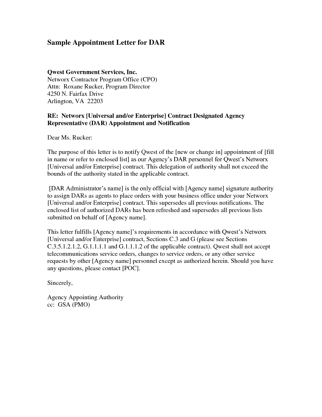Contract Letter Template - Trustee Appointment Letter Director Trustee is Appointed or