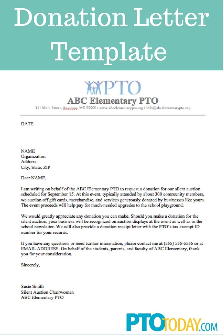 Pta Fundraising Letter Template - Use This Template to Send Out Requests for Donations to Support Your