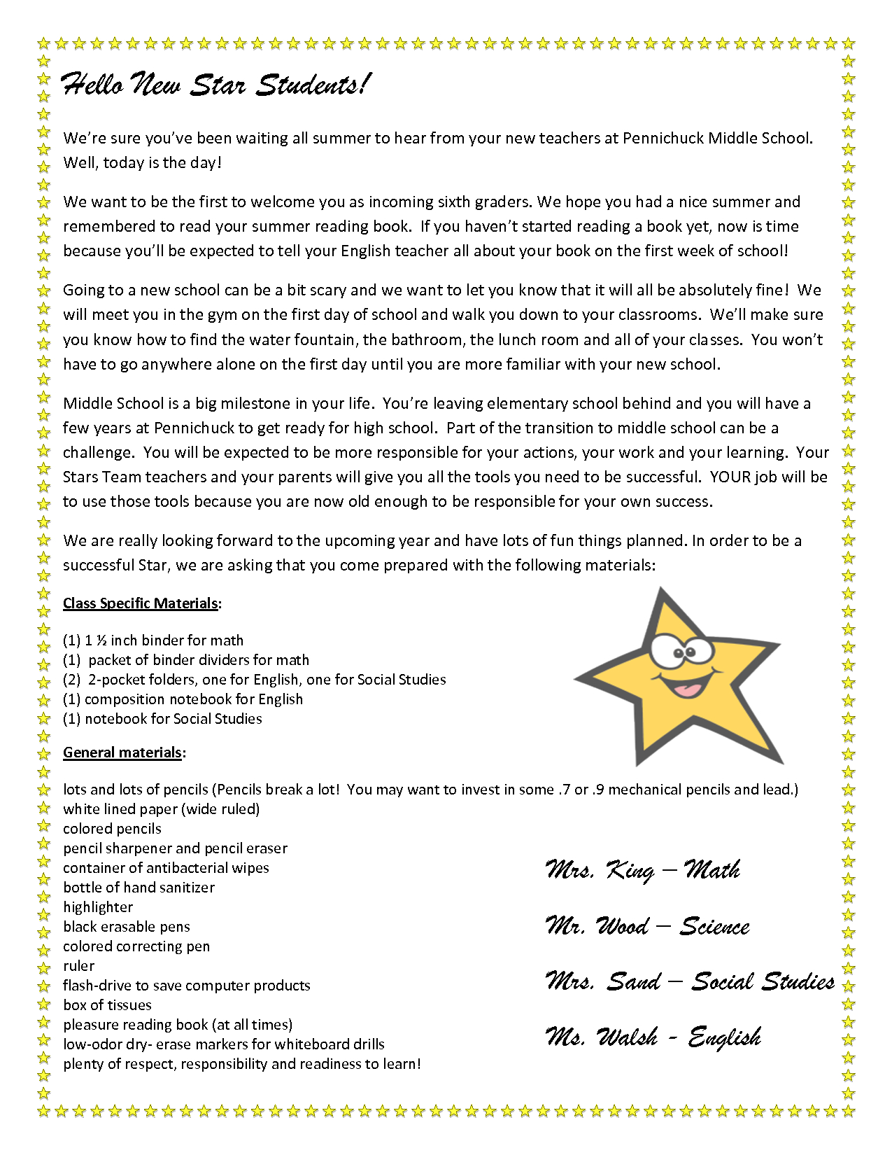 Kindergarten Welcome Letter Template - Wel E Letter to Parents From English Teacher Google Search