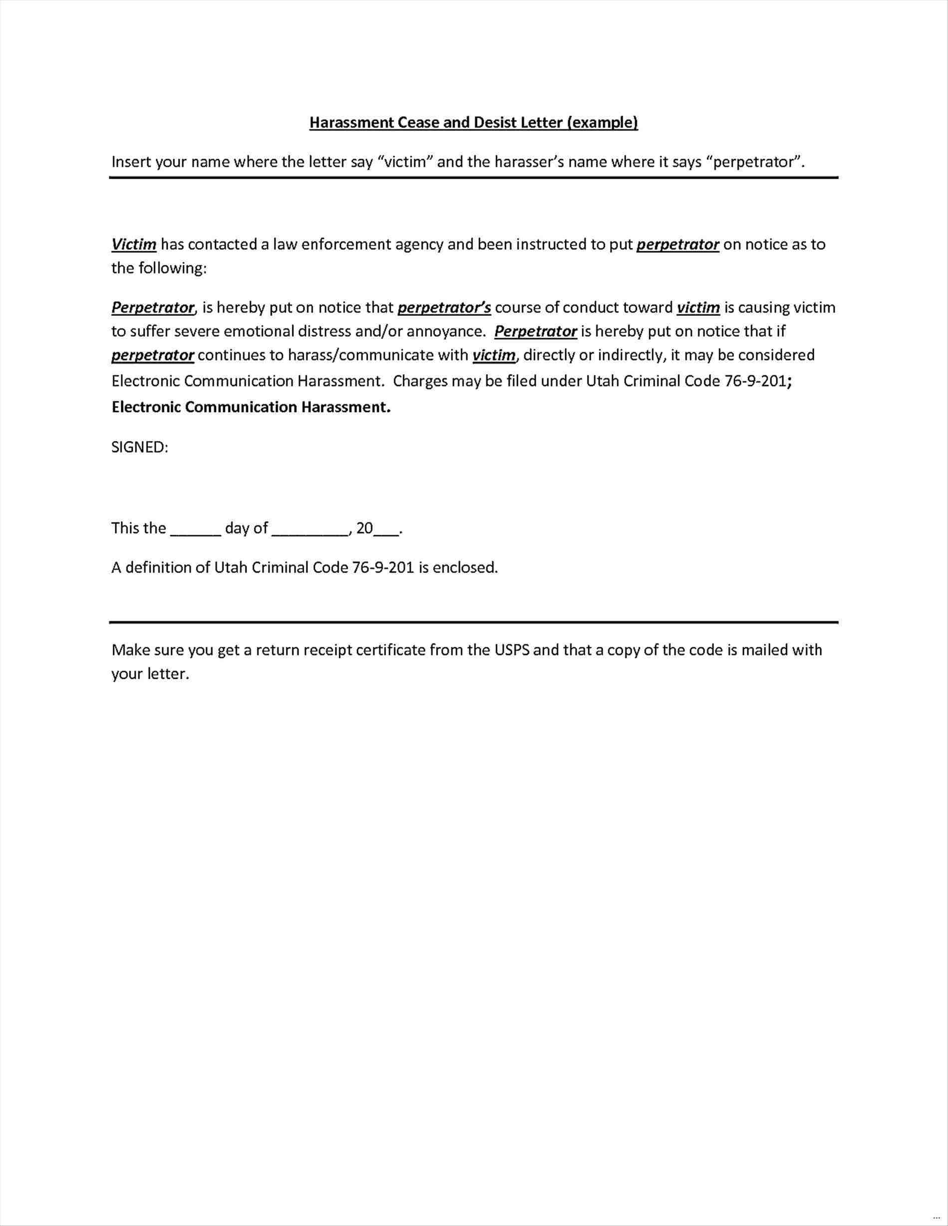 Free Cease and Desist Letter Template - What is A Cease and Desist Letter Awesome Cease and Desist Template