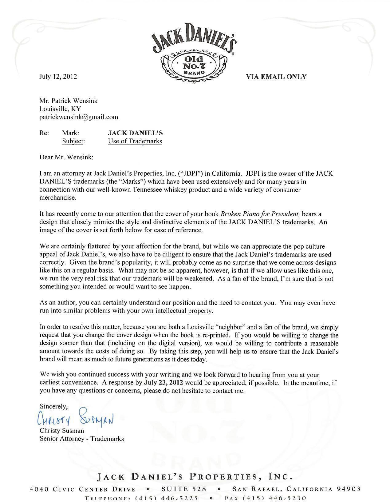 Free Cease and Desist Letter Template - What is A Cease and Desist Letter Inspirational Case Jacka Danielsa