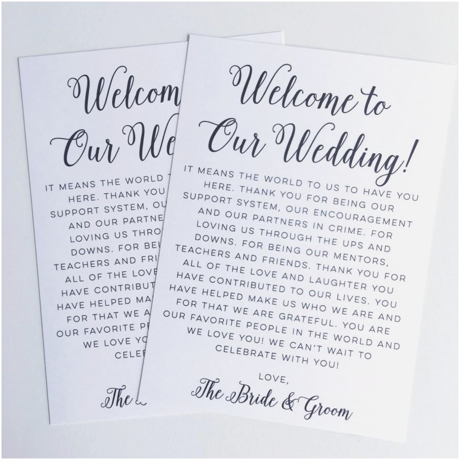 Welcome Bag Letter Template - Wonderful Destination Wedding Gift Bags