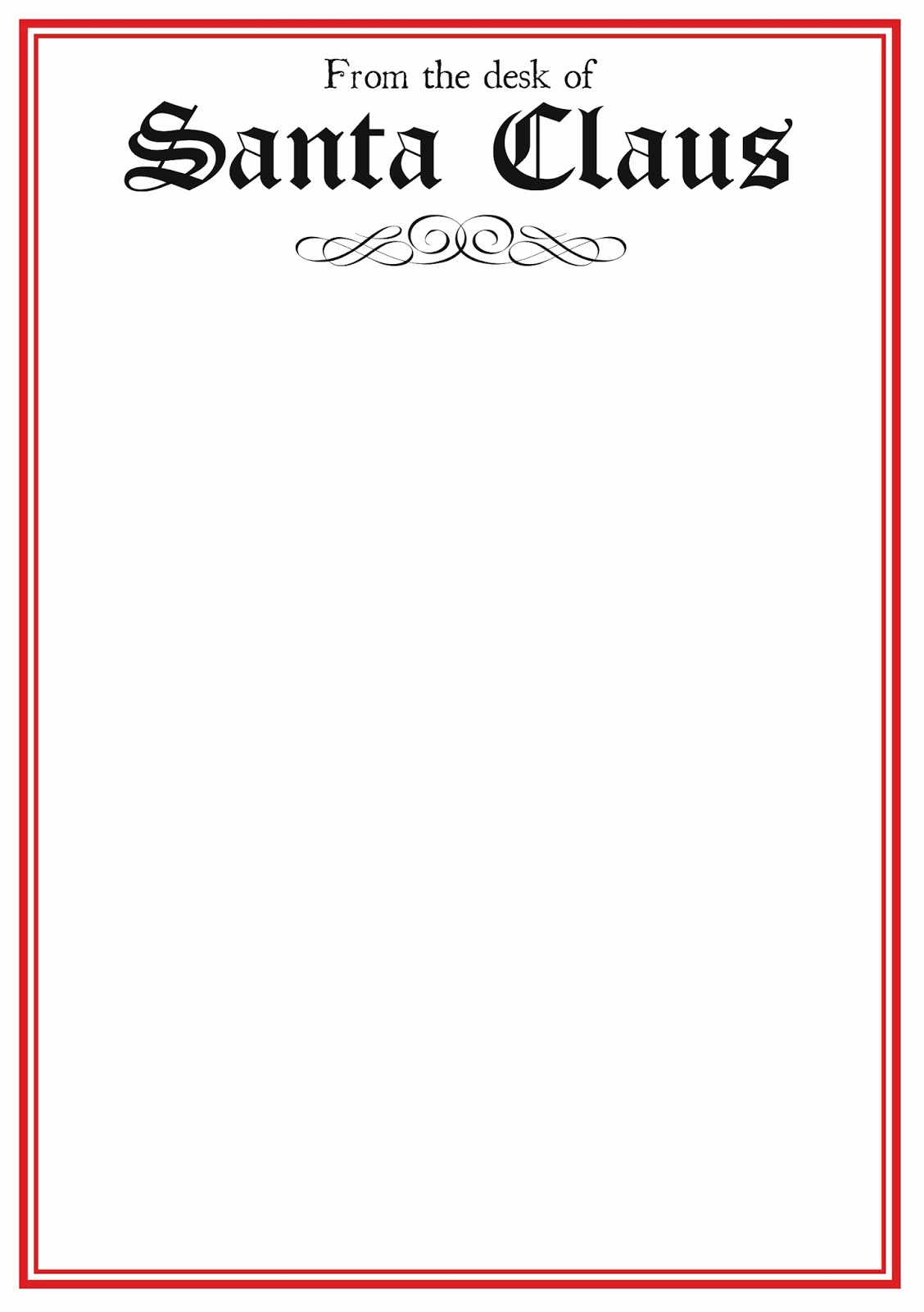 free printable letter from santa template word example-word santa letter template 17-i