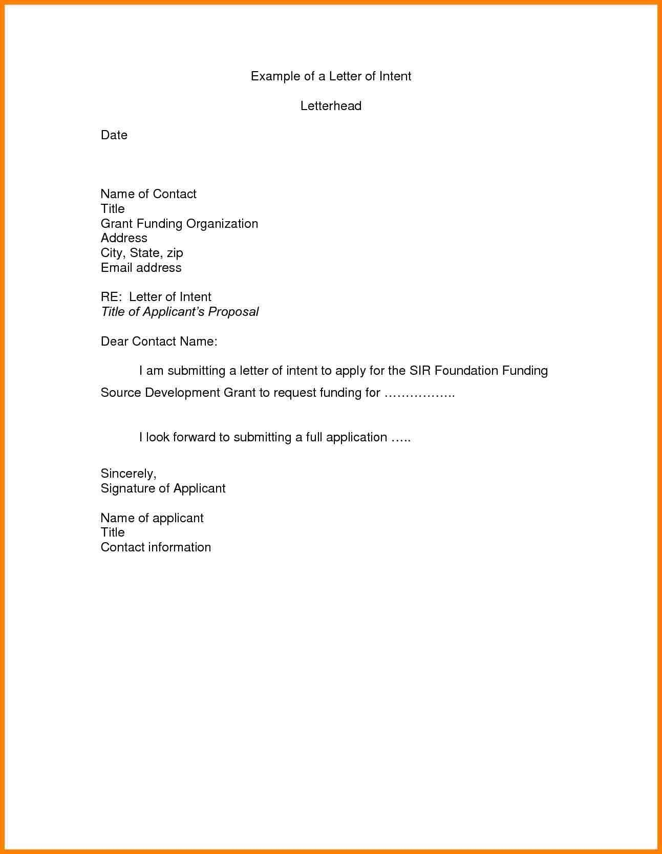 letter of intent job letter of intent for job template examples