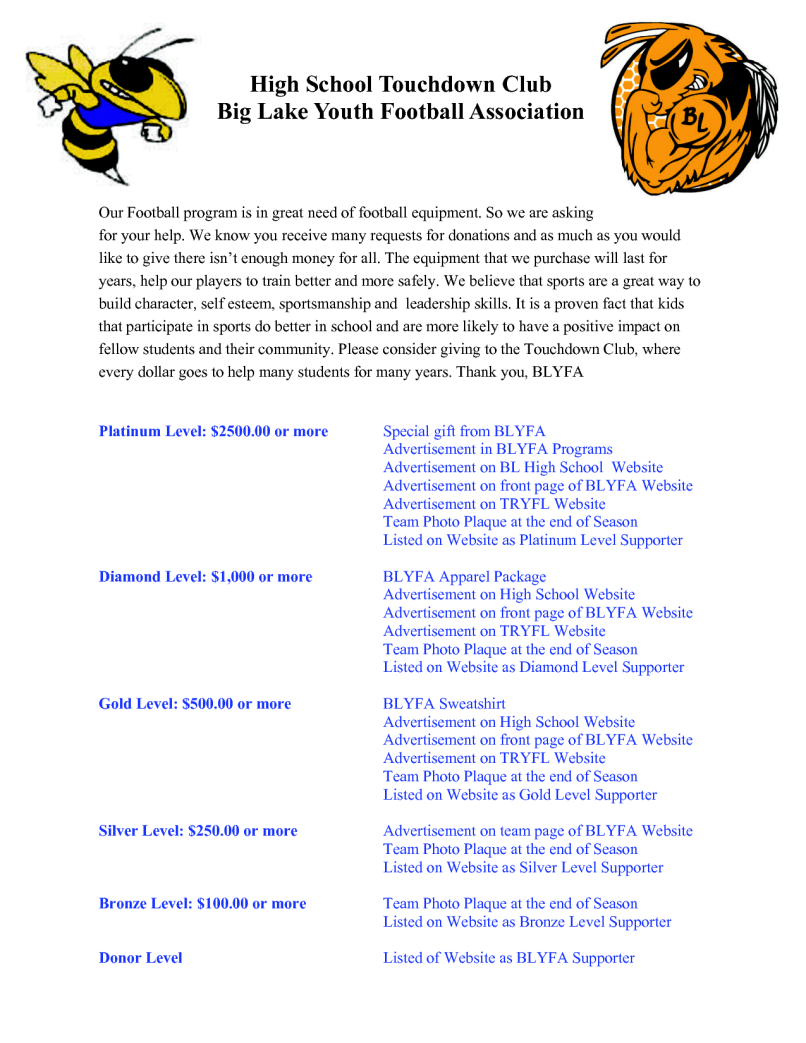 Youth Football Sponsorship Letter Template - Youth Football Team Sponsorship Letter